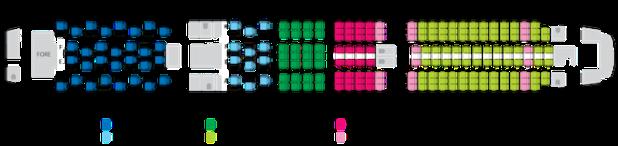 Qantas B787 cabin plan and seat rotation guide.